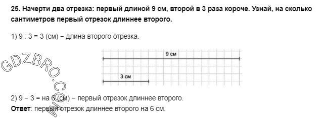 Ответ на странице 107 - 25 ГДЗ по Математике 3 класс Моро, Бантова, Бельтюкова, Часть 1, 2015 - ГДЗ с решением- 1>