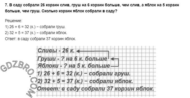 Ответ на странице 29 - 7 ГДЗ по Математике 3 класс Моро, Бантова, Бельтюкова, Часть 1, 2015 - ГДЗ с решением- 1>
