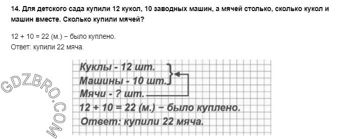Ответ на странице 30 - 14 ГДЗ по Математике 3 класс Моро, Бантова, Бельтюкова, Часть 1, 2015 - ГДЗ с решением- 1>