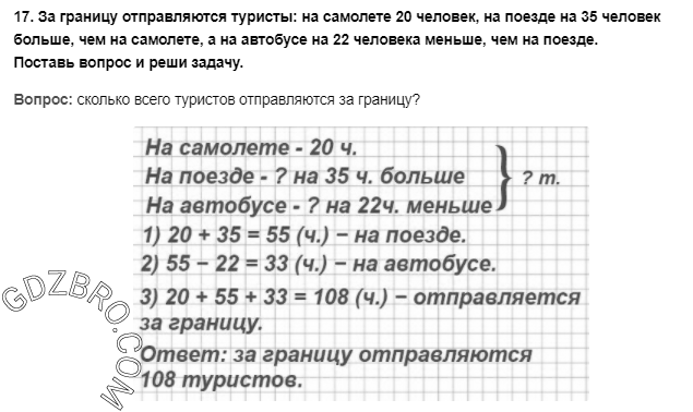 Ответ на странице 31 - 17 ГДЗ по Математике 3 класс Моро, Бантова, Бельтюкова, Часть 1, 2015 - ГДЗ с решением- 1>
