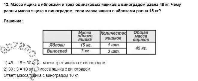 Ответ на странице 53 - 13 ГДЗ по Математике 3 класс Моро, Бантова, Бельтюкова, Часть 1, 2015 - ГДЗ с решением- 1>