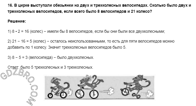 Ответ на странице 53 - 16 ГДЗ по Математике 3 класс Моро, Бантова, Бельтюкова, Часть 1, 2015 - ГДЗ с решением- 1>