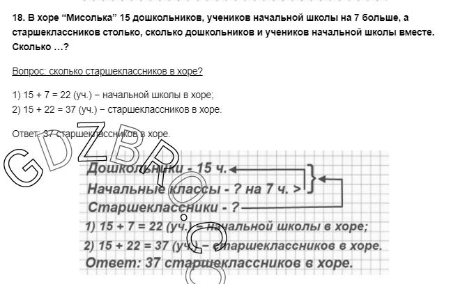 Ответ на странице 54 - 18 ГДЗ по Математике 3 класс Моро, Бантова, Бельтюкова, Часть 1, 2015 - ГДЗ с решением- 1>