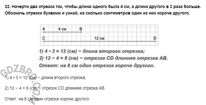 Ответ на странице 54 - 22 ГДЗ по Математике 3 класс Моро, Бантова, Бельтюкова, Часть 1, 2015 - ГДЗ с решением- 1>