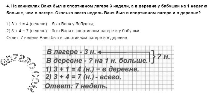 Ответ на странице 5 - 4 ГДЗ по Математике 3 класс Моро, Бантова, Бельтюкова, Часть 1, 2015 - ГДЗ с решением- 1>