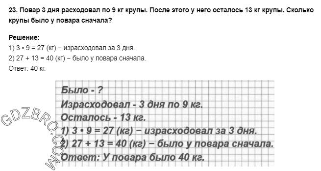 Ответ на странице 78 - 23 ГДЗ по Математике 3 класс Моро, Бантова, Бельтюкова, Часть 1, 2015 - ГДЗ с решением- 1>