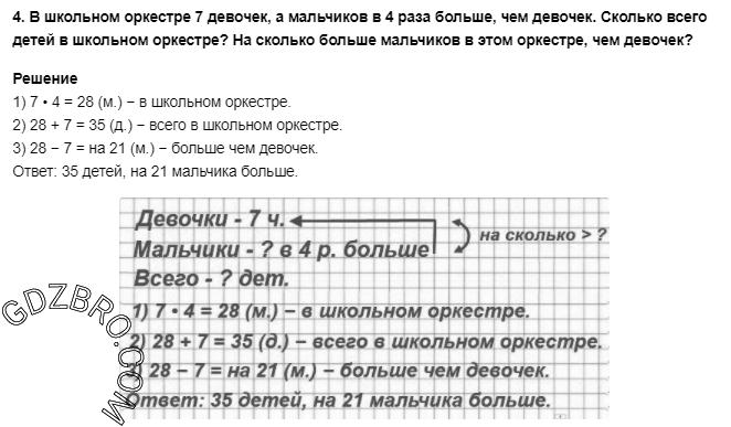Ответ на странице 83 - 4 ГДЗ по Математике 3 класс Моро, Бантова, Бельтюкова, Часть 1, 2015 - ГДЗ с решением- 1>