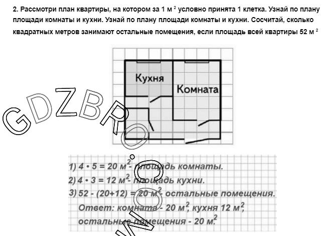 Ответ на странице 88 - 2 ГДЗ по Математике 3 класс Моро, Бантова, Бельтюкова, Часть 1, 2015 - ГДЗ с решением- 1>