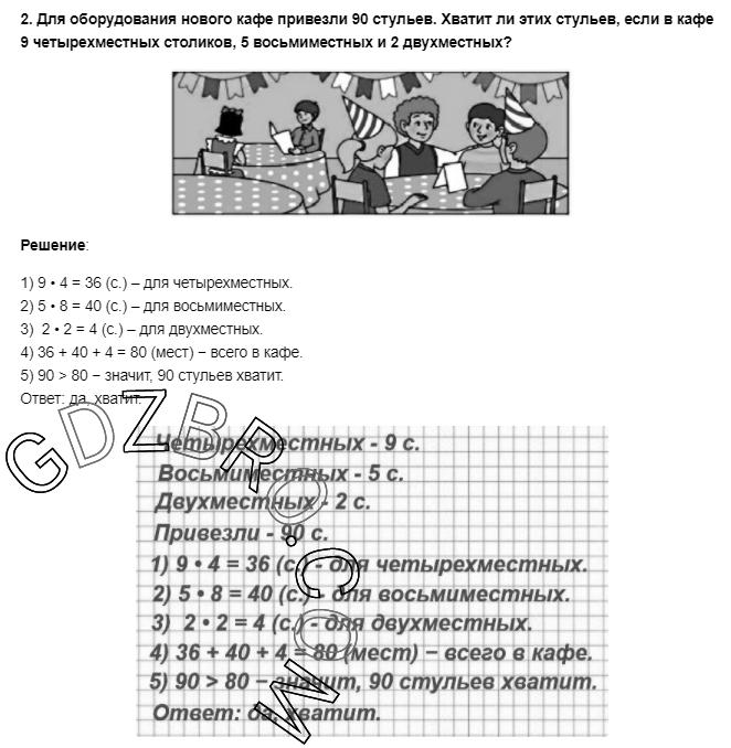 Ответ на странице 90 - 2 ГДЗ по Математике 3 класс Моро, Бантова, Бельтюкова, Часть 1, 2015 - ГДЗ с решением- 1>