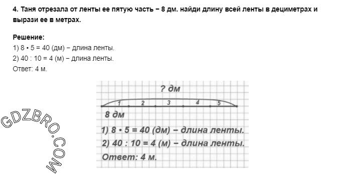 Ответ на странице 99 - 4 ГДЗ по Математике 3 класс Моро, Бантова, Бельтюкова, Часть 1, 2015 - ГДЗ с решением- 1>